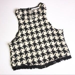 Bishop & Young Checkered Houndstooth Tank Black